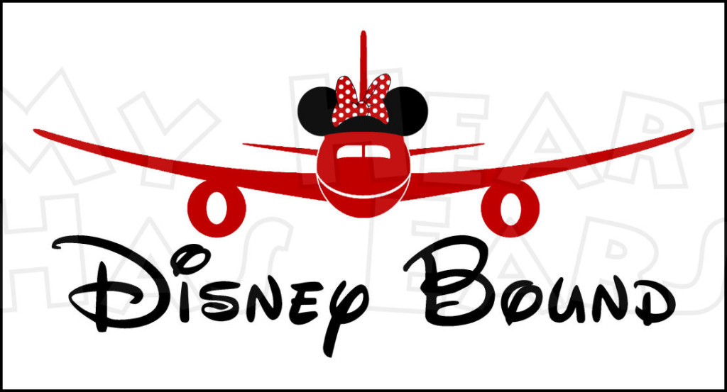 1024x553 Disney Bound Airplane With Minnie Ears Instant Download Digital