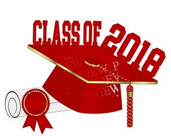 340x270 Class Of 2018 Clipart More Colors Black Gold Graduation