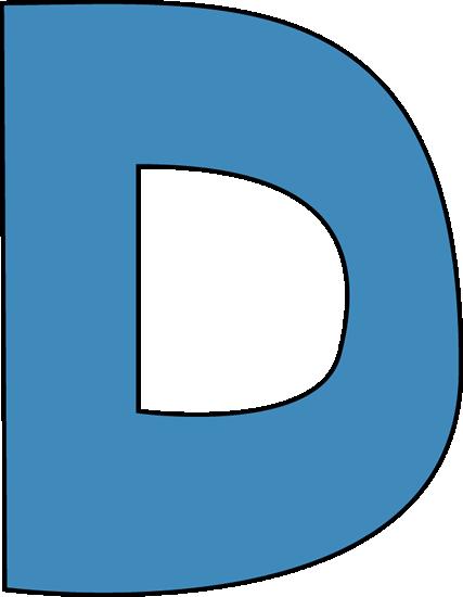 427x550 Clip Art D Blue Alphabet Letter D Clip Art Blue Alphabet Letter D