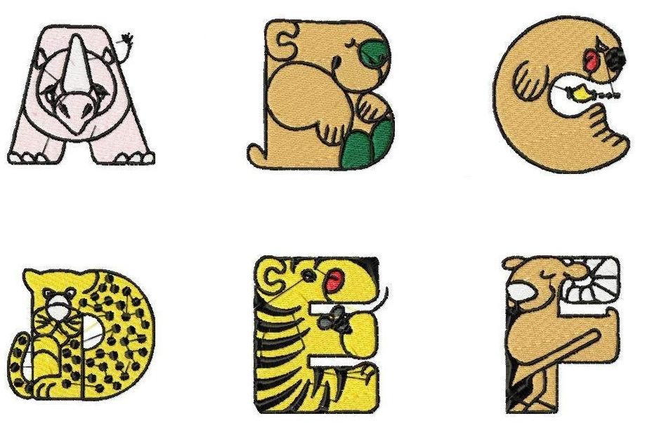 918x603 Animal Alphabet Letters Clipart