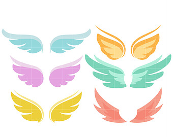 340x270 Angel Wing Clipart Etsy