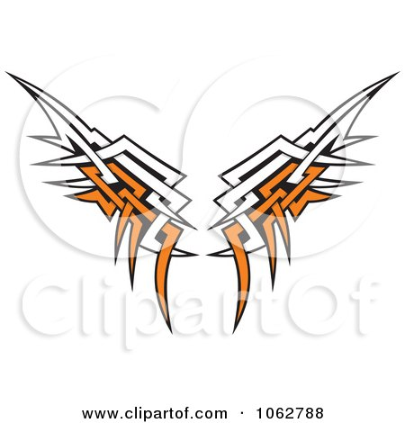 450x470 Royalty Free Vector Clip Art Illustration Of A Pair Of Angel Wings