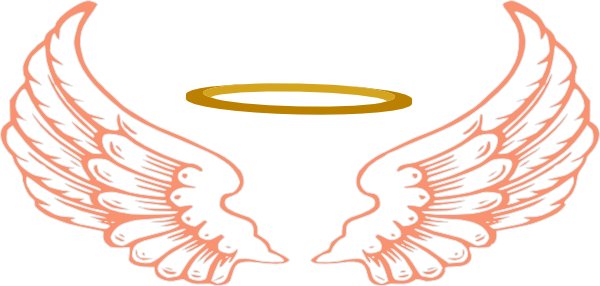 600x286 Angel Wings And Halo Clip Art Clipart Backgrounds