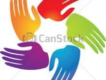 220x165 Free Clip Art Teamwork Hands Teamwork As Flower App Logo Hands