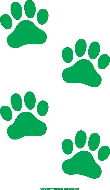 417x723 Free Paw Print Clip Art Awesome @ Free Paw Print Clip Art
