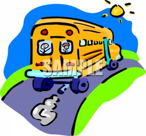 300x280 Clipart Picture Children Looking Out The Back Of A School Bus