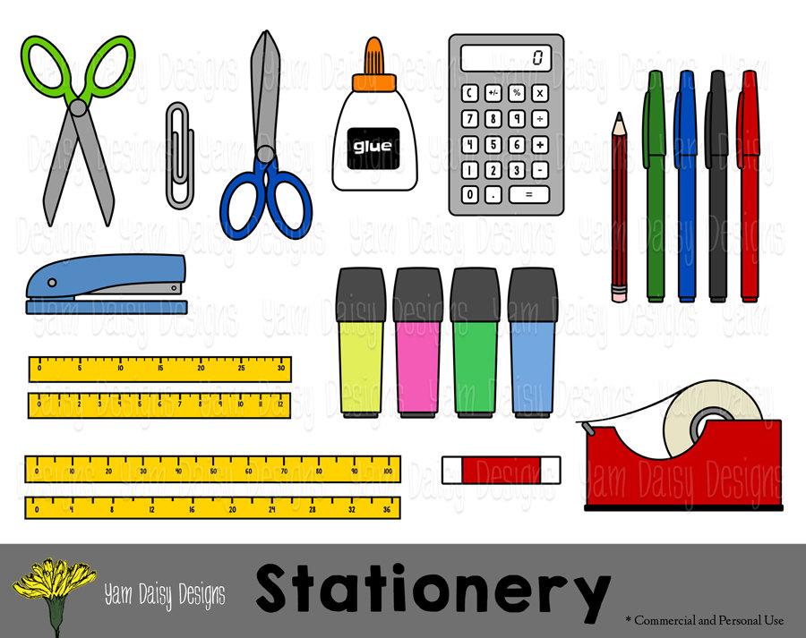 900x713 Stationery Clip Art, Back To School, Scissors, Calculator, Instant