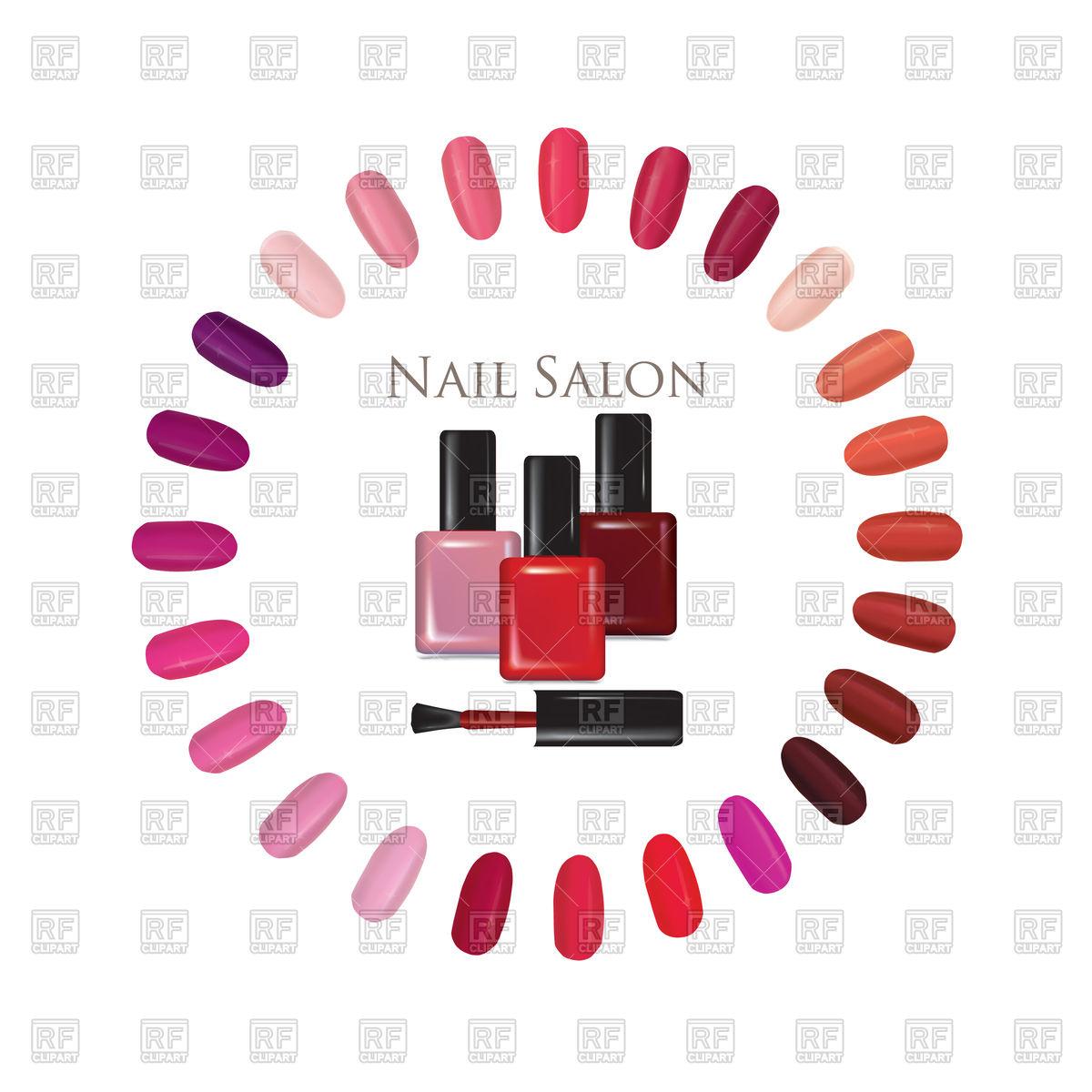 1200x1200 Nail Beauty Salon Background. Nail Palette Set. Royalty Free