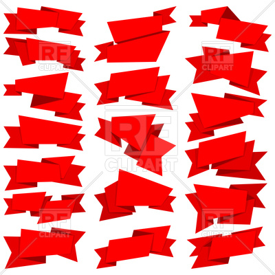 400x400 Big Collection Of Red Ribbon Banners Royalty Free Vector Clip Art