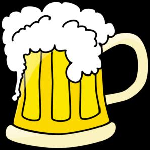 297x298 Big Beer Mug Clip Art
