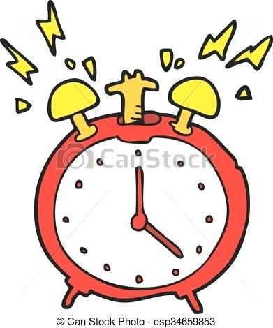 391x470 Clip Art Alarm Clock Hand Painted Art Alarm Clock Figure Hand
