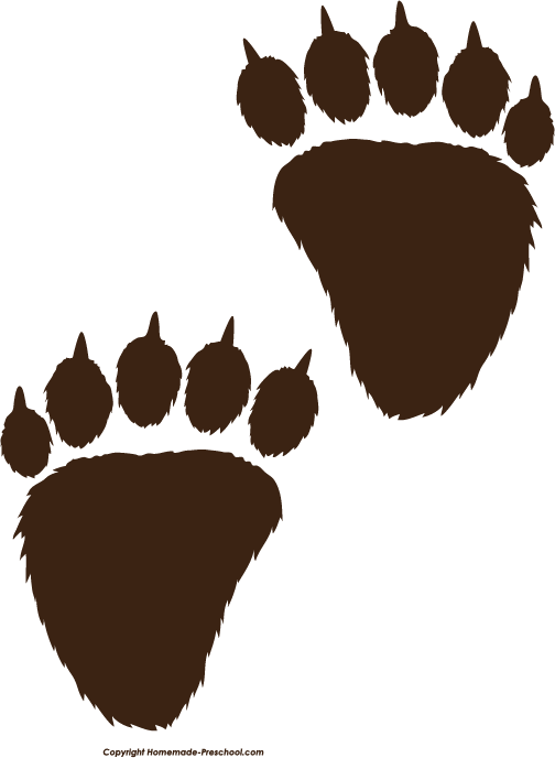 504x688 Bear Paw Print Black Bear Clipart Bear Paw Print Pencil And