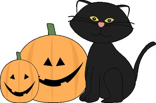 500x332 Jack O Lantern Halloween Black Cat And Jack Lantern Clip Art