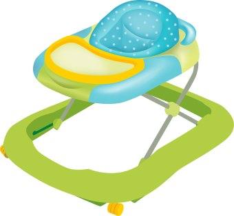 340x314 Baby Walker Clip Art