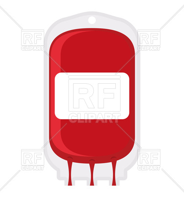 375x400 Blood Donation Bag Royalty Free Vector Clip Art Image