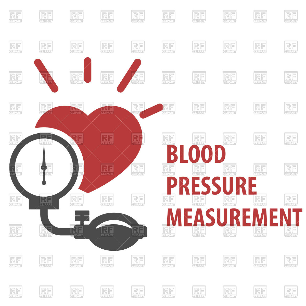 1200x1200 Blood Pressure Measurement Icon Royalty Free Vector Clip Art Image