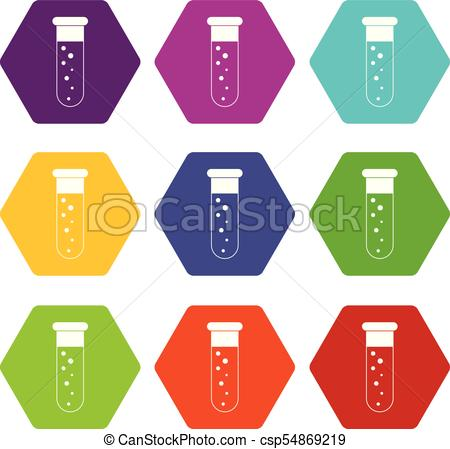 450x449 Blood Test Icon Set Color Hexahedron. Blood Test Icon Set