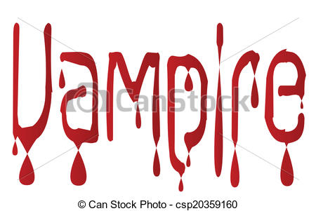 450x301 The Word Vampire In Blood Running Isolated Text Clip Art Vector