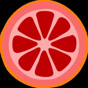 297x297 Blood Orange Slice Clip Art