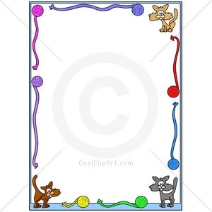 300x300 Dog And Cat Border Clip Art