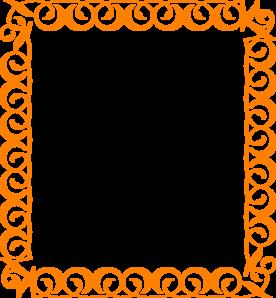 276x298 Orange Elegant Border Clip Art