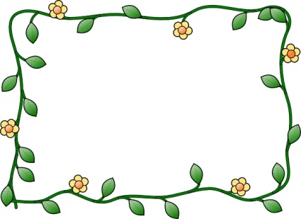 425x309 Plant Borders Clip Art Clipart