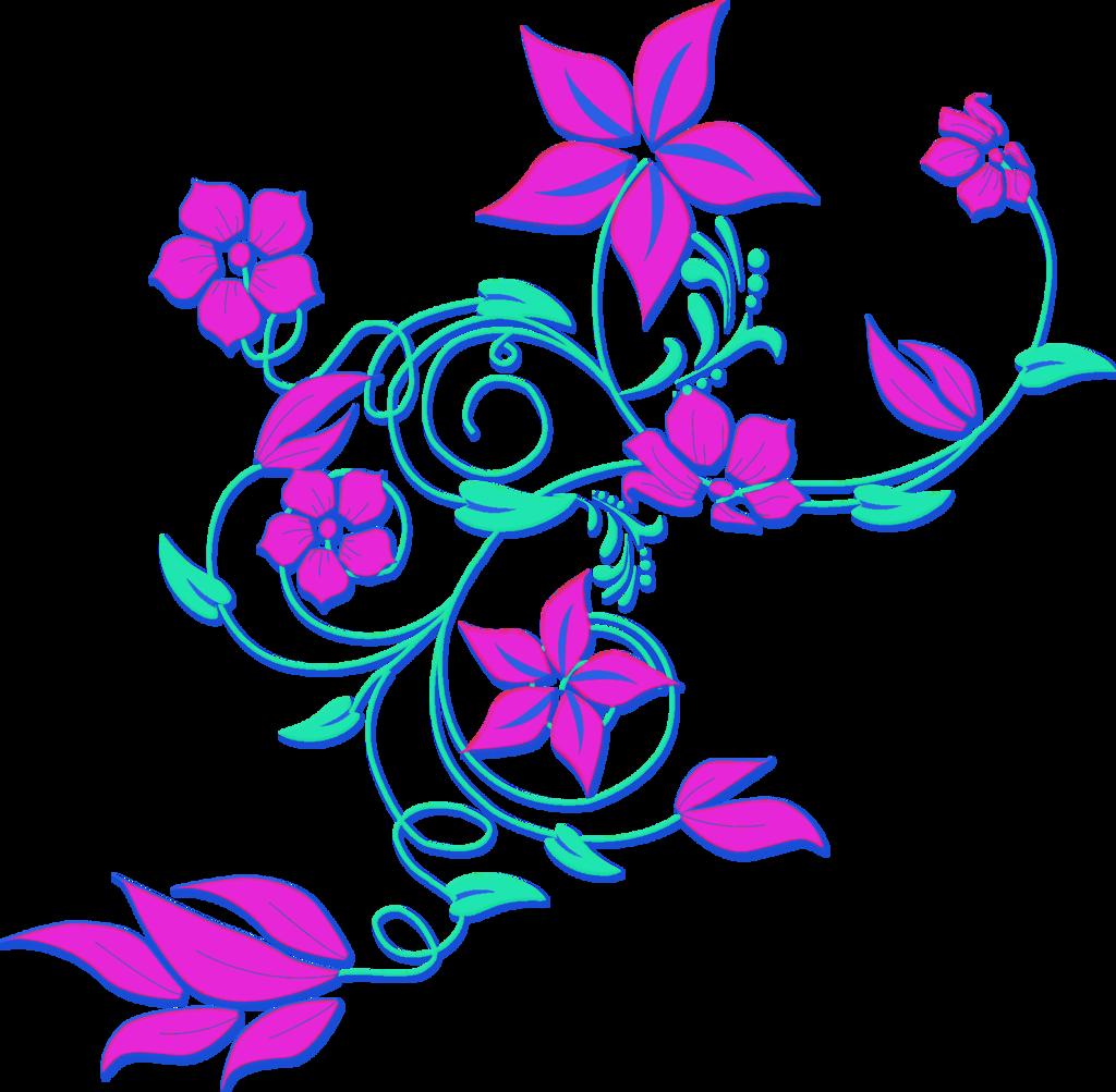 1024x1003 Purple Flower Border Clip Art Free Clipart Images