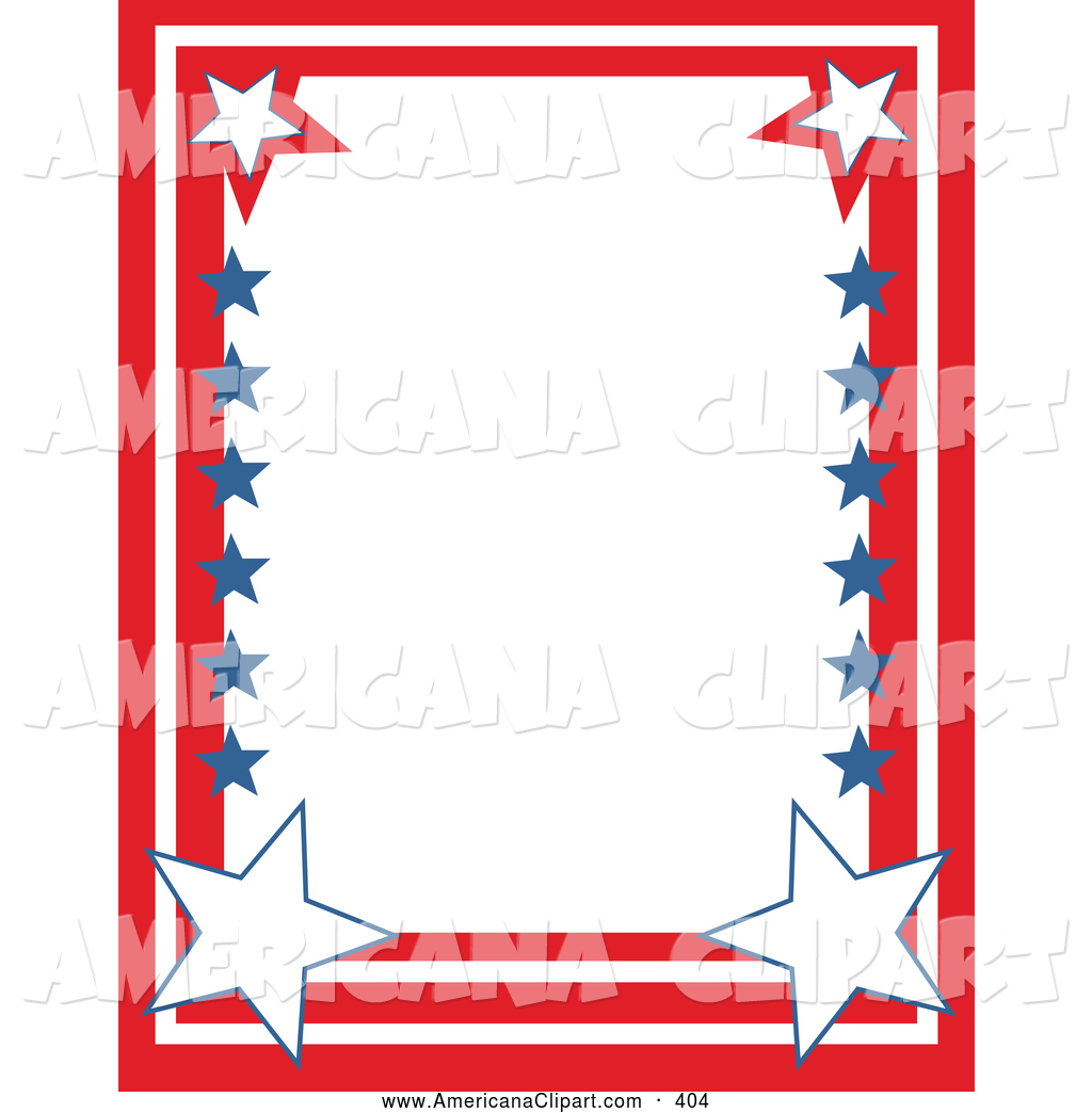 1024x1044 Americana Vector Clip Art Of A Patriotic Stationery Border Of Red