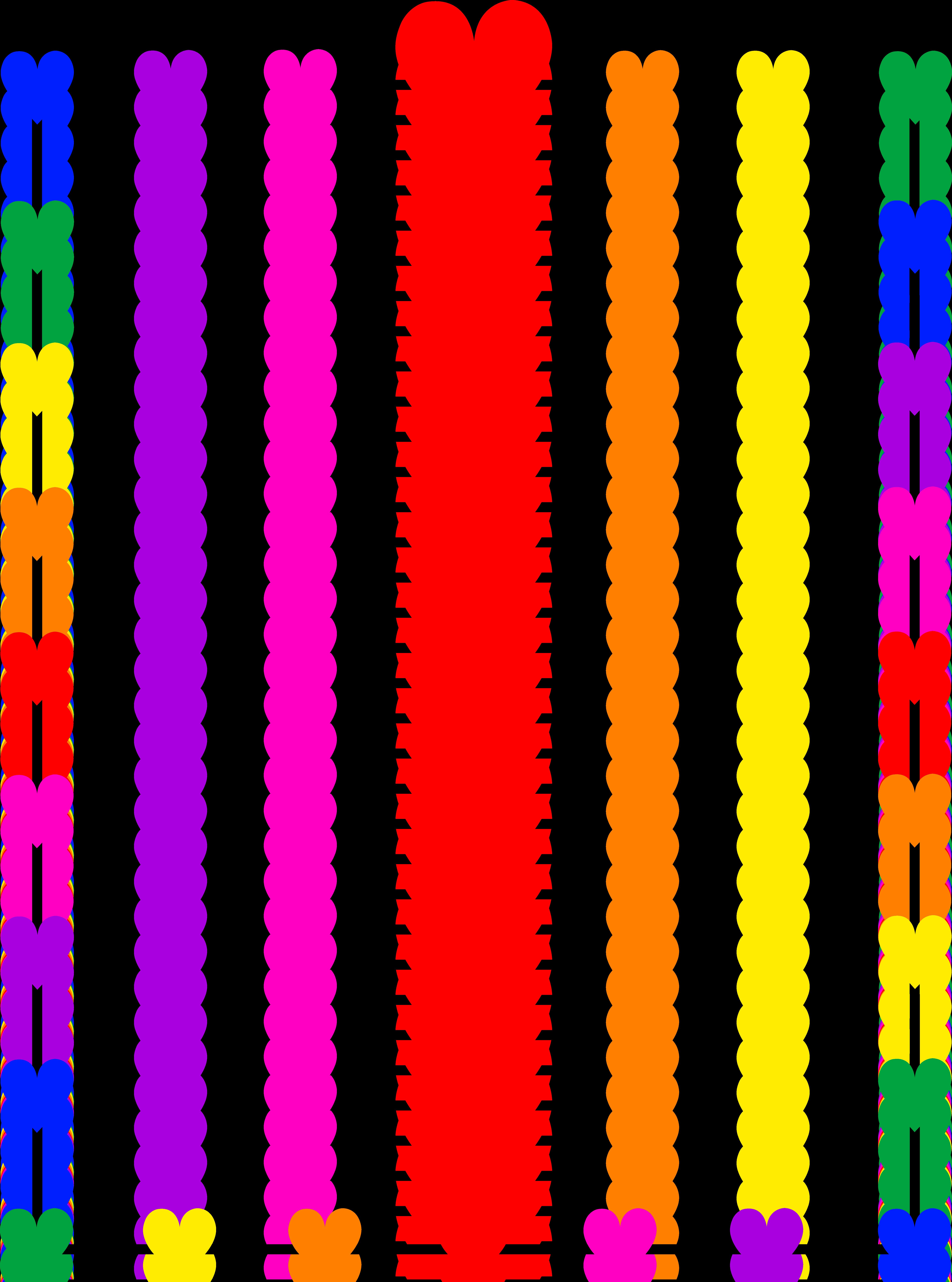 5952x8014 Borders And Frames Clip Art Rainbow Hearts Border Frame