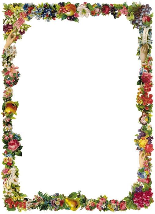 507x700 Victorian Border Clip Art Free