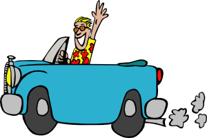 300x200 Man Driving Car Clip Art