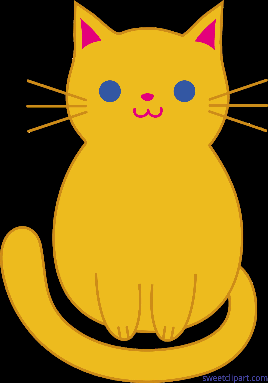 3528x5039 Cute Orange Kitty Cat Clip Art