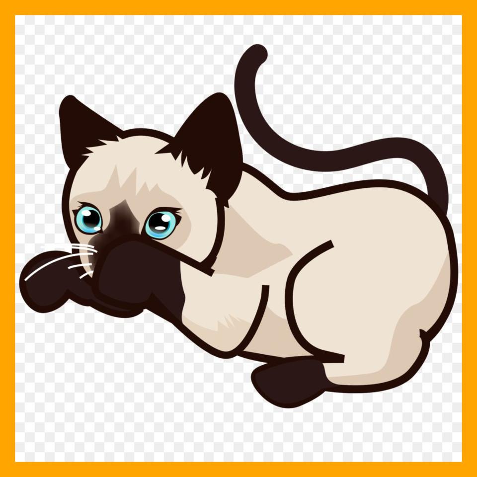 960x960 Inspiring Siamese Cat Kitten Clip Art Png Pict Of Cute Cartoon