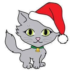 236x236 Images Of Cute Kitten Christmas Clipart Cute Cat. Watercolor