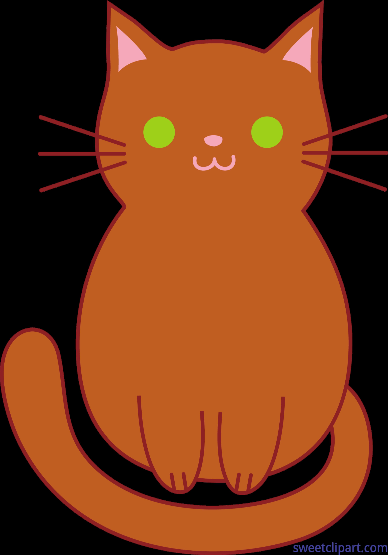 3528x5039 Cat Kitten Cute Brown Clip Art
