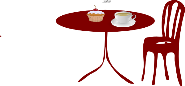 600x280 Table Chair Cupcake Coffee Clip Art At Vector Dining Room Chairs