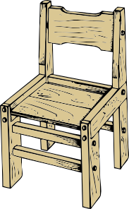 183x296 Wooden Chair Clip Art Free Vector 4vector