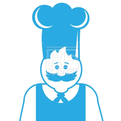 400x400 Chef With Mustache Royalty Free Vector Clip Art Image