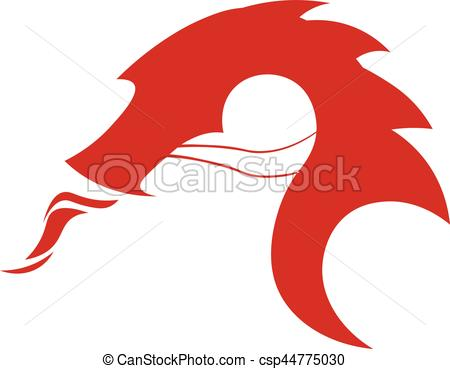 450x369 Dragon Logo. Chinese Dragon. Vector Flat Illustration. Dragon Logo