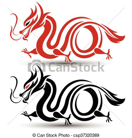 450x470 Illustration Of Traditional Chinese Dragon ,vector Vector