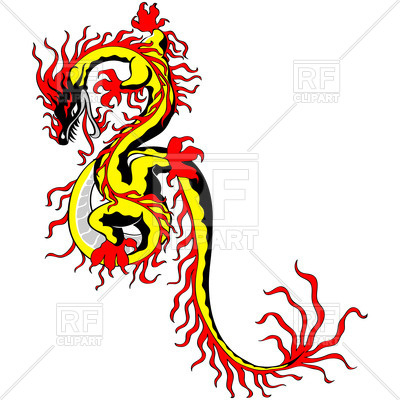 400x400 Sketch Of Chinese Dragon Royalty Free Vector Clip Art Image