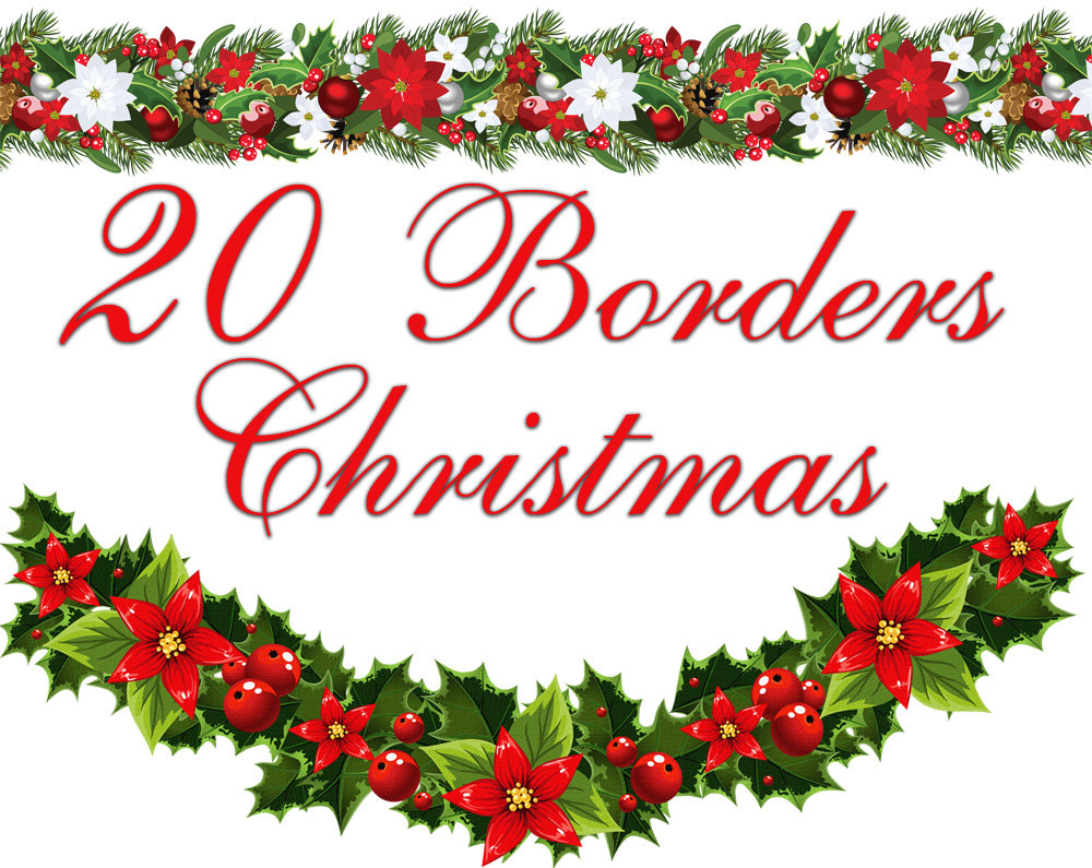 1000x795 Free Printable Christmas Clipart Corners