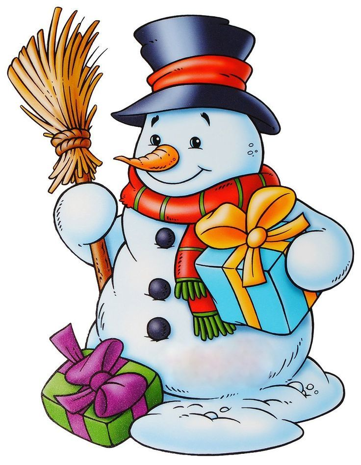736x946 Snowmen.quenalbertini Snowman With A Broom And Gifts
