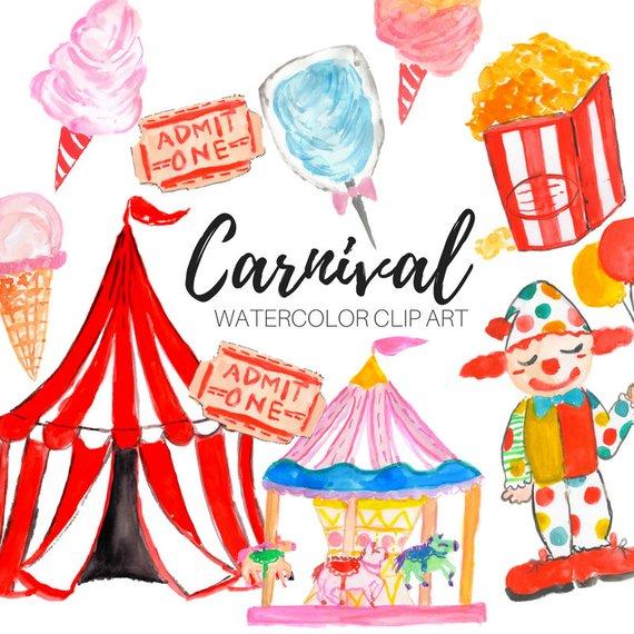 570x570 Watercolor Clip Art Carnival Clip Art