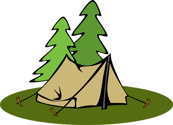 600x434 Awesome Tent Clipart Clip Art Logo Tents And Free Black