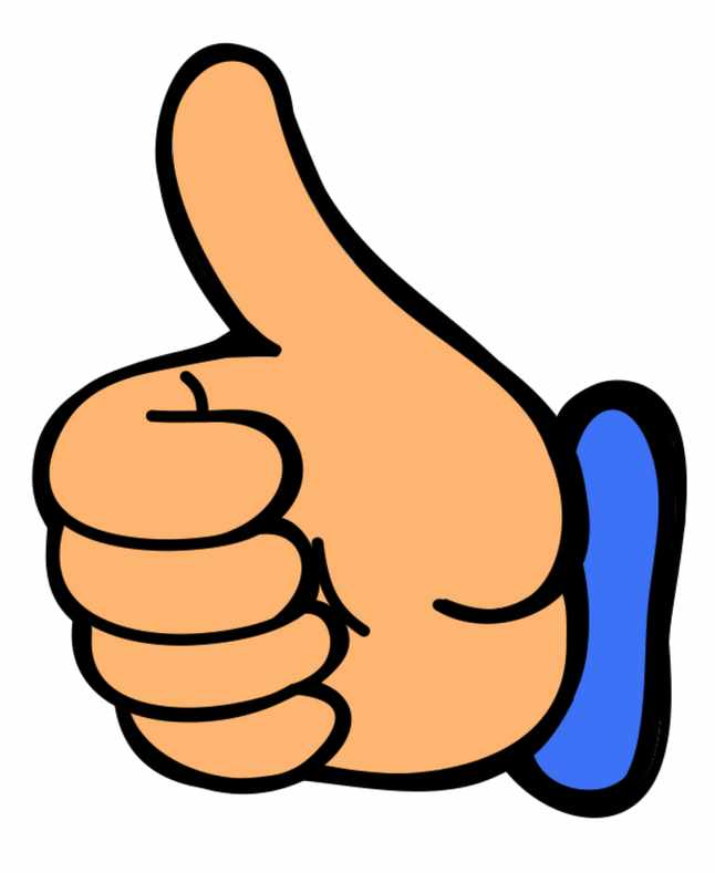 646x789 Smile Thumbs Up Clip Art Clipart Image 0