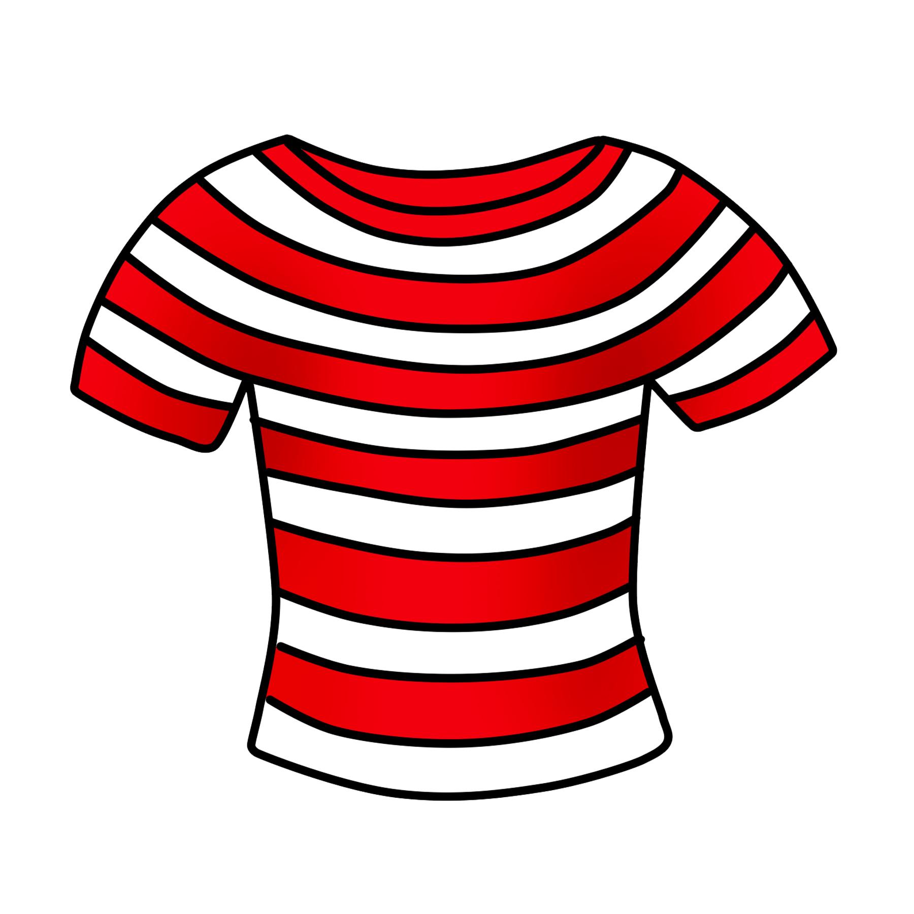 1800x1800 T Shirt Clipart Free Striped Shirt Clip Art Free Clipart