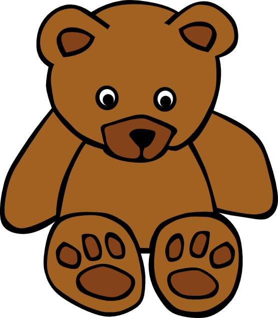 555x635 Clip Art Gerald G Simple Teddy Bear Scalable