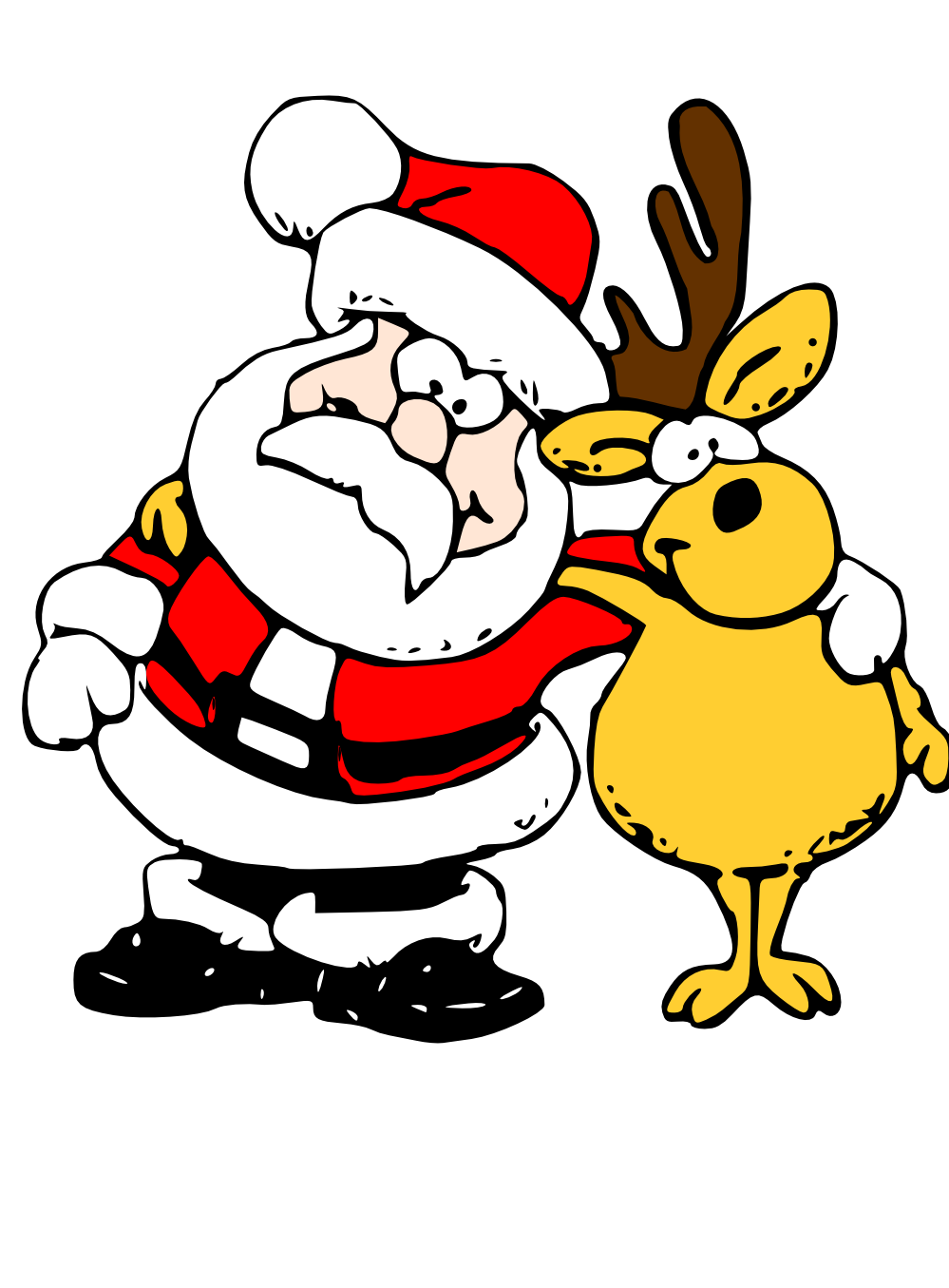 999x1355 Clip Art Zeimusu Santa And Reindeer Scalable