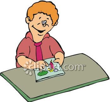 350x325 Boy Drawing In A Coloring Book